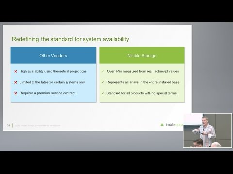 Nimble Storage Achieving Six-Nines Availability with Rod Bagg