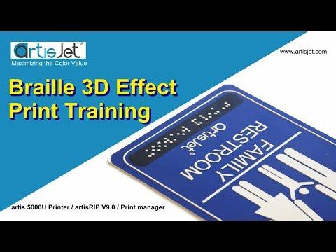 Braille 3D effect print training