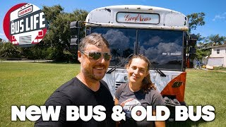 Plumbing the New Bus & Painting the Old | Bus Conversion pt. 47 | The Bus Life