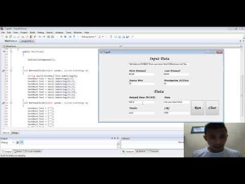 Tutorial program protokol TCP pemisah karakter C#
