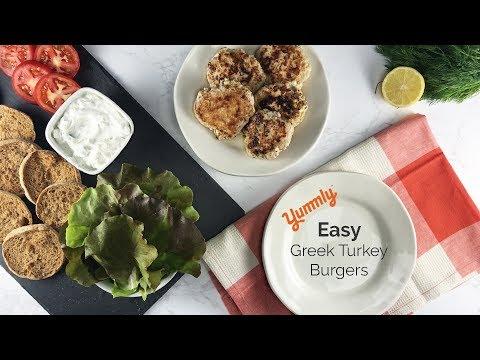 Easy Greek Turkey Burgers
