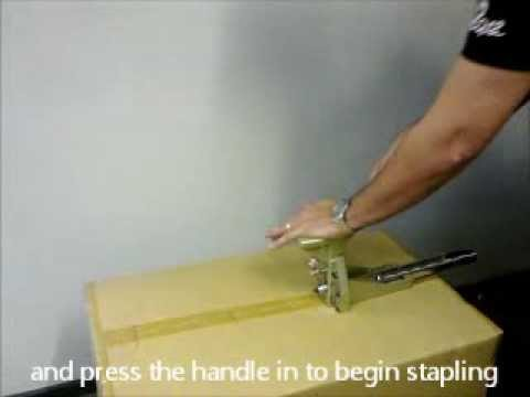 How to use a carton box stapler