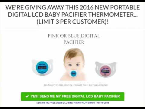 Free Digital Baby Pacifier Thermometer