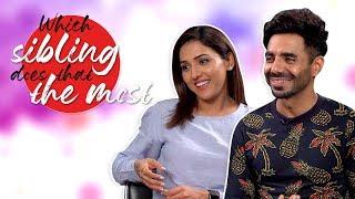 Aparshakti Khurana & Neeti Mohan talk about their siblings | CineBlitz