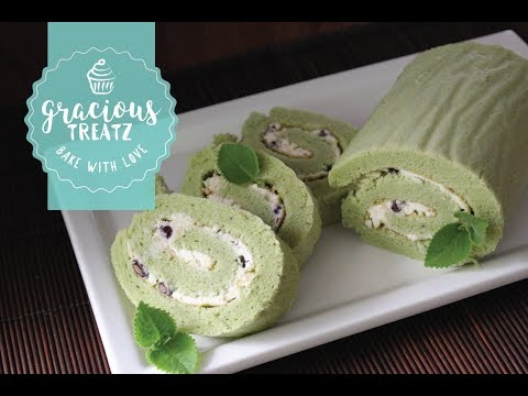 Matcha (Japanese Green Tea) Swiss Roll Cake Recipe