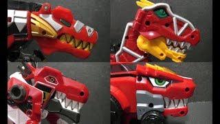 Power Rangers Dino Charge Thunder T-Rex Megazord Toys  캡틴다이노 다이노코어 공룡 로봇 장난감