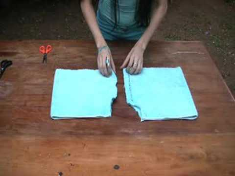 How to Recycle an old Towel into Shorts!