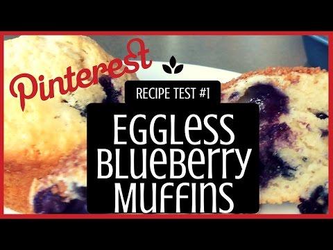 Eggless Blueberry Muffins (Vegetarian) (Vegan) - PINTEREST RECIPE TEST #1