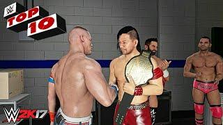 WWE 2K17 - Top 10 Backstage Cutscenes!!!