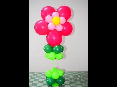 Easy Flower balloon tutorial. How to make beautiful balloon decorations.