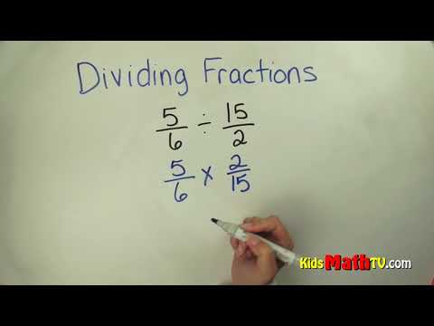 Math video on how to divide two fractions, 4th, 5th, 6th, 7th grades