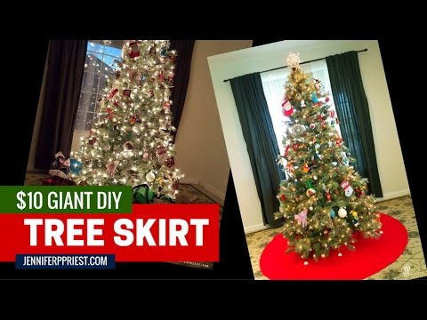 DIY Giant Tree Skirt for Christmas Tree