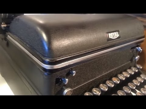 Royal Typewriter Restore, Before & After, Vintage Antique Manual 1940 era