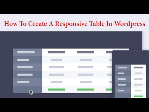 How To Create A Responsive Table In Wordpress Within 30 Seconds