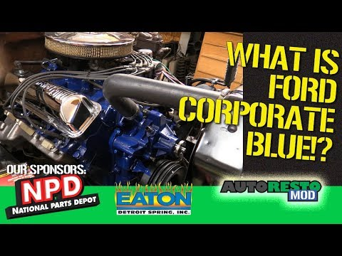 Ford Corprate Blue For Concours Cars Episode 389 Autorestomod