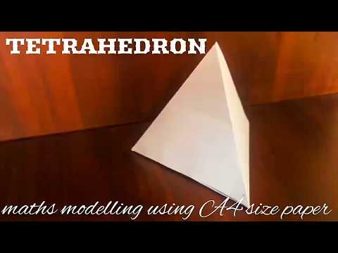 Triangular Pyramid (tetrahedron) | maths model using A4 size paper
