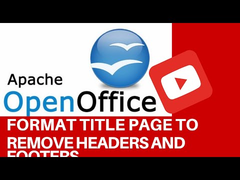 How To Format Title Page To Remove Headers and Footers