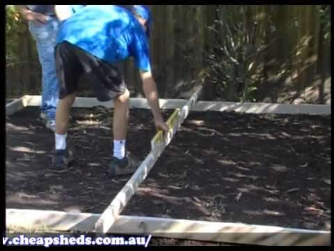 Cheap Sheds - Garden Sheds - Absco Laying a Concrete Slab