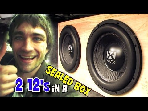 Sealed Subwoofer Box Trunk Setup w/ 2 12