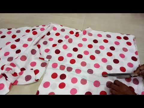 How to cut night dress top in Hindi part-1 how to make night dress at home