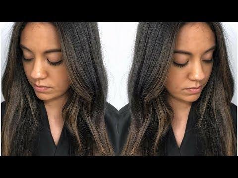 Subtle Brunette Balayage // Fall Hair Color Tutorial Using Redken Shades EQ // Daniella Benita
