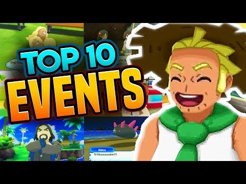 TOP 10 EVENTS IN POKEMON ULTRA SUN AND MOON | TOP 10 Side Quests