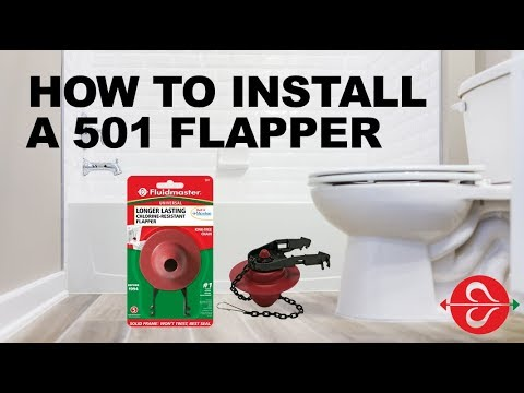 Stop a running toilet with Fluidmaster 501 toilet flapper for toilets made before 1994