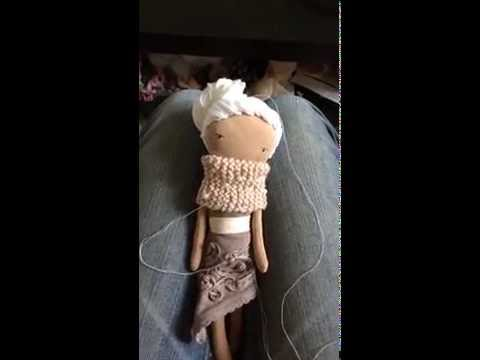 Handmade rag doll in the making