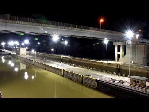 Ohio River Markland Lock Barge Traffic TImelapse