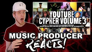 Music Producer Reacts to YouTube Cypher Vol. 3 (Crypt, Dax, NoLifeShaq, Merkules, Crank Lucas)