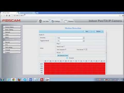 IP Camera FTP settings