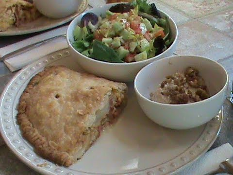 Ham Cheese and Cabbage Pie For Two