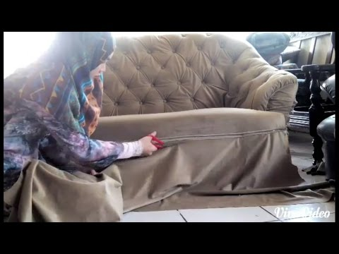 DIY Tufted Sofa|Reupholster|Makeover