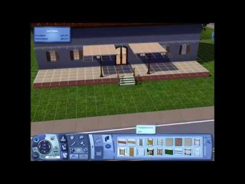 Sims 3: Building a house with a front porch