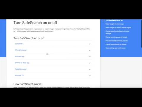 How to Activate Google Safe Search