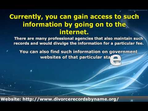 Where To Find Public Divorce Records