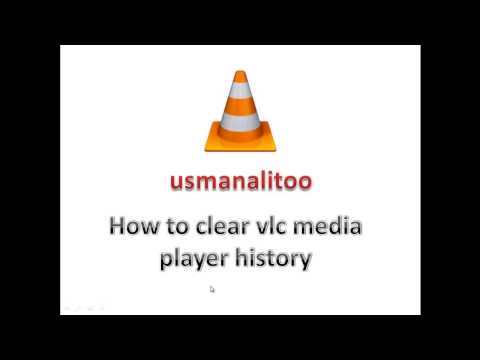How to clear vlc media player history