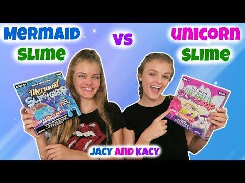 Mermaid Slime vs Unicorn Slime ~ Save or Spend ~ Jacy and Kacy