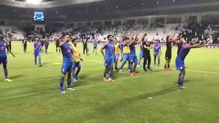 Relive: Indian Football Team Viking claps celebration after the match against Qatar