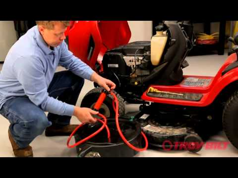 How to change the oil | Troy-Bilt riding lawn mower