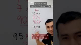 TRUCO DE MULTIPLICACIÓN CON NÚMEROS CERCANOS A 100