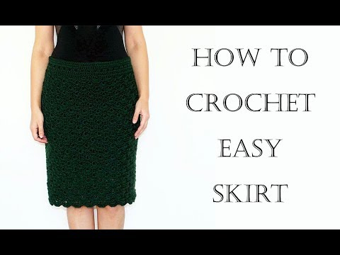 How to Crochet Easy Skirt