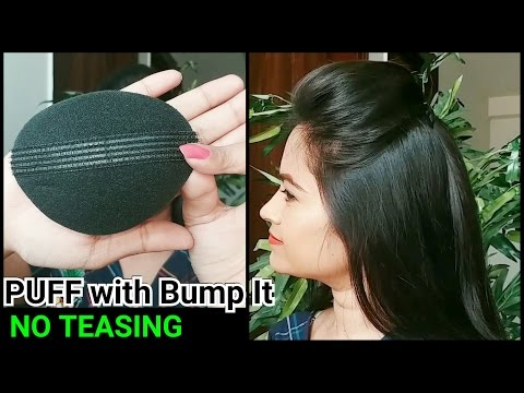 Perfect PUFF with BUMP IT(NO TEASING)// Everyday Quick&Easy puff hairstyle for school/college/work