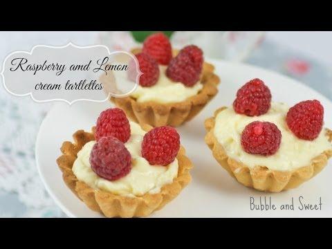 Lemon cream and raspberry tartlettes