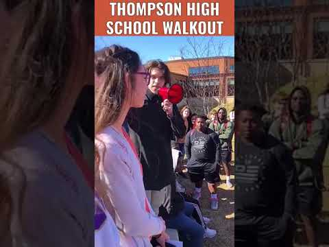 Walk out of school day 2018: Thompson High School students leaving class to protest gun violence