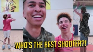 3 POINT CHALLENGE vs. LaMelo Ball | Who