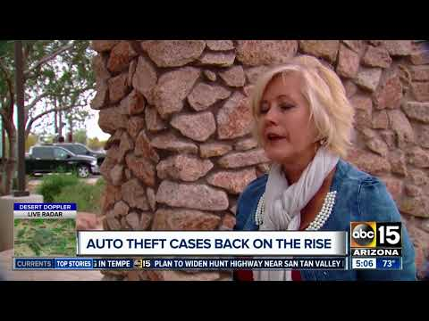 Auto theft rates up in Arizona; state officials working to deter criminals