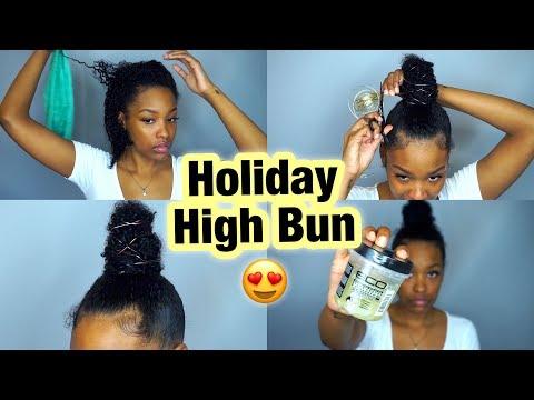Holiday High Bun | Natural Hair | FabulousBre