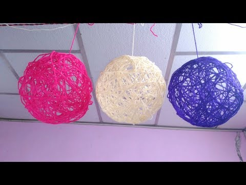 How to make String ball, Yarn balls making, Home Decor ideas