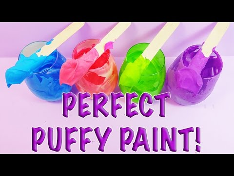 DIY: How to Make Awesome Homemade Creative Puffy Paint! Great for Creative Kids!